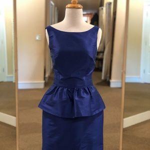 Short peplum cocktail dress